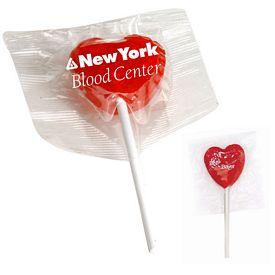 Promotional Heart Pop Lollipops