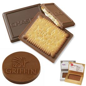 Promotional Custom Rectangle Chocolate Cookie