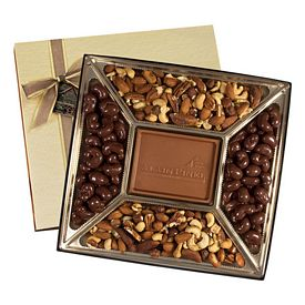 Promotional Medium Custom Mold Chocolate & Nuts Delights Gift Box