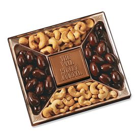 Promotional Small Custom Mold Chocolate & Nuts Delights Gift Box