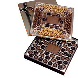 Promotional Double Layered Cocolate & Nuts Confections Gift Box