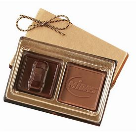 Promotional Custom Mold Chocolate Squares Gift Box