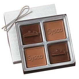 Promotional Medium Custom Mold Chocolate Squares Gift Box