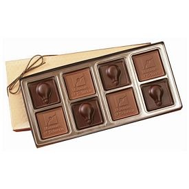 Promotional Large Custom Mold Chocolate Squares Gift Box