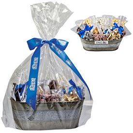 Promotional Assorted Candy And Chocolate Gourmet Gift Tub