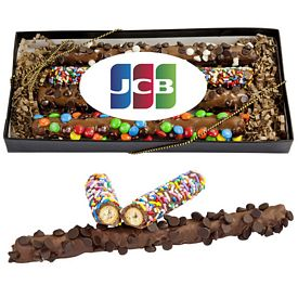 Promotional Decorated Gourmet Pretzel Gift Box