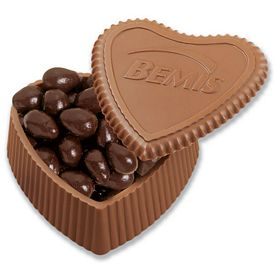 Promotional Milk Chocolate Heart Shaped Confections Box