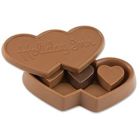Promotional Chocolate Candy Heart Truffles Box