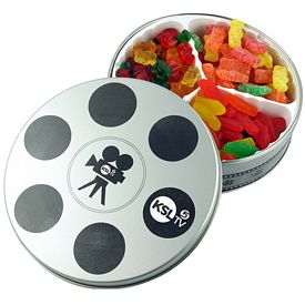 Promotional Movie Reel Confections Tin