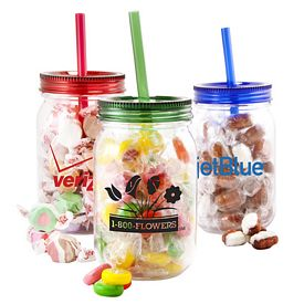Promotional Mason Jar With Assorted Citrus Slices