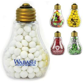 Promotional Plastic Candy Filled Light Bulb