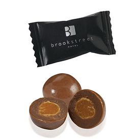 Promotional Individually Wrapped Chocolate Caramel Bits