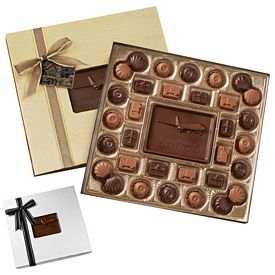Promotional Medium Custom Molded Chocolate Delights Gift Box