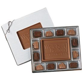 Promotional Small Custom Chocolate Delights Themed Chocolate Gift Box