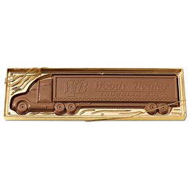 Promotional 8oz Molded Chocolate Tractor Trailer
