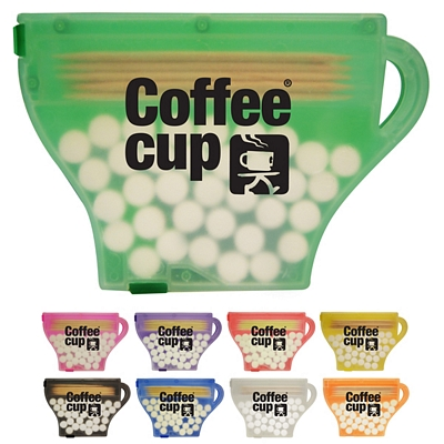 Promotional Pick N Mint Coffee Cup Breath Mints