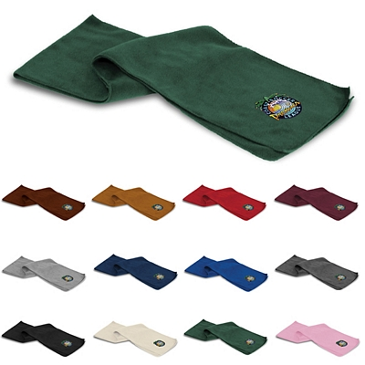 Promotional Embroidered Fleece Winter Scarf