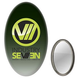 Promotional Creative Oval Mirror Button
