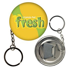 Promotional Round Bottle Opener Key Chain Button