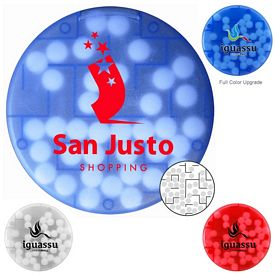 Promotional Round Shaped Puzzle Credit Card Mints