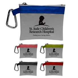 Promotional Bold Stripe Carabiner First Aid Kit