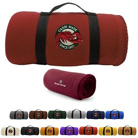 Customized 50X60 Embroidered Carry-A-Long Fleece Blanket