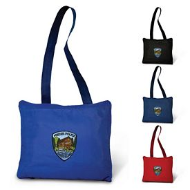 Promotional 4-in-1 Seat Cushion Tote Fleece Blanket