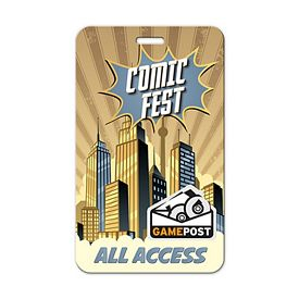 Customized 3X5 Press Pass Lanyard Badge