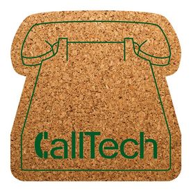 Promotional Phone Shaped Natural Cork Coasters
