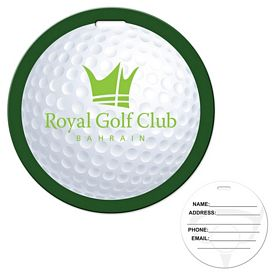 Promotional Stock Golf Laminated Luggage Tag