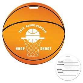 Promotional Stock Basketball Laminated Luggage Tag