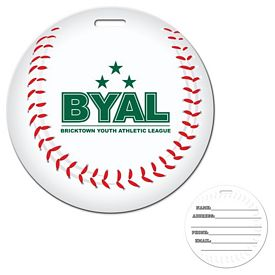 Promotional Stock Baseball Laminated Luggage Tag