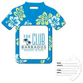 Promotional Stock Hawaiian Shirt Luggage Tag