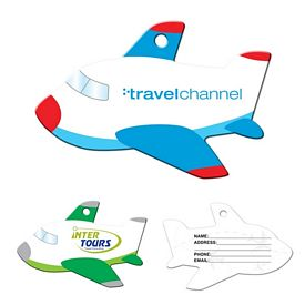 Promotional Stock Airplane Laminated Luggage Tag