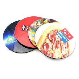 Promotional Full Color Rubber Coasters