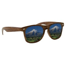 Customized Custom Lenstek Wood Grain Miami Sunglasses