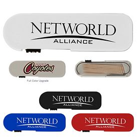Promotional Travel Thumb Slide Toothpick Dispenser