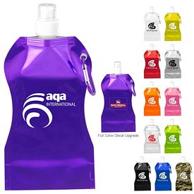Custom 169 Oz Wave Collapsible Water Bottle
