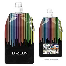 Customized 169 Oz Rainbow Collapsible Water Bottle