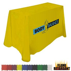 Promotional Digital Flame Retardant 6 Ft Throw Style 42-inchH Tablecloth
