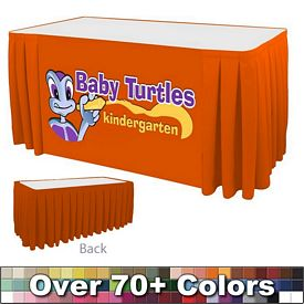 Promotional 6 Ft Box Pleat Digital Print Table Skirt