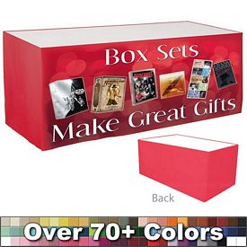 Promotional Digital 6 Ft Digital Print Flat Skirt Table Wrap
