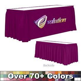 Promotional 6 Ft Digital Print Shirred Table Skirt