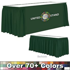 Promotional 8 Ft Digital Print Shirred Table Skirt