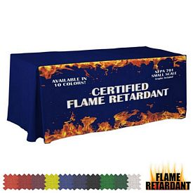 Promotional Digital Flame Retardant 6 Ft Fitted Table Cover
