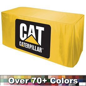 Promotional Digital 6 Ft No Pleats Fitted Style Tablecloth