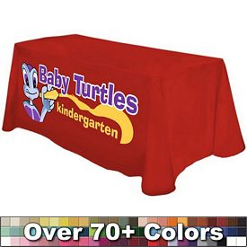 Promotional Digital 4 Ft Table Throw Style 24-inchW Tablecloth