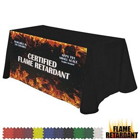 Promotional Digital Flame Retardant 6 Ft Throw Style Tablecloth