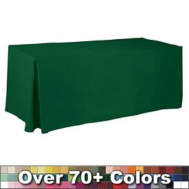 Promotional Non-Printed 6 Ft Fitted Style Tablecloth with Pleats