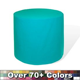 Promotional Non-Printed 36-inch Round Barrel Fitted Tablecloth